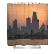 Chicago Sunset Shower Curtain