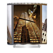 Chicago Tall Shoulders Trump Sears Tribune Triptych 3 Panel 02 Shower Curtain