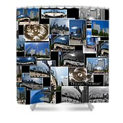 Chicago The Bean Collage Shower Curtain