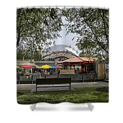 Chicago The Bean Lower Westside Shower Curtain
