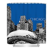 Chicago The Bean - Royal Blue Shower Curtain