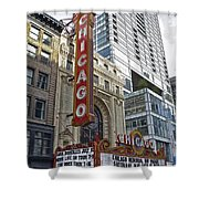 Chicago Theater Facade Northside Shower Curtain