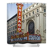 Chicago Theater Facade Southside Shower Curtain