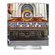 Chicago Theater Signage Shower Curtain