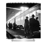 Chicago Train Station Shower Curtain