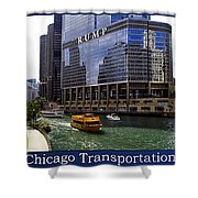 Chicago Transportation Triptych 3 Panel Hdr 01 Shower Curtain