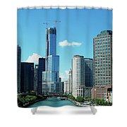 Chicago Trump Tower Under Construction Shower Curtain