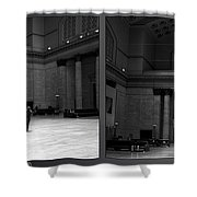 Chicago Union Station The Great Hall 2 Panel Bw Shower Curtain