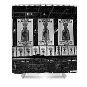 Chicago United Center Banners Bw Shower Curtain