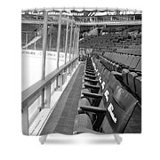 Chicago United Center Before The Gates Open Blackhawk Seat One Bw Shower Curtain
