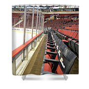 Chicago United Center Before The Gates Open Blackhawk Seat One Shower Curtain
