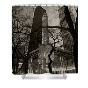 Chicago Water Tower B W Shower Curtain