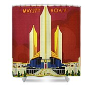 Chicago World Fair A Century Of Progress Expo Poster  1933 Shower Curtain