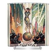Chicago World's Fair 1933 Shower Curtain