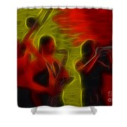 Chicago19-horns-fractal-1 Shower Curtain