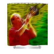 Chicago19-james-fractal Shower Curtain