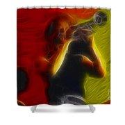 Chicago19-lee-2-fractal Shower Curtain