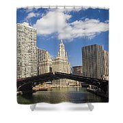 Chicagobridge Up Shower Curtain