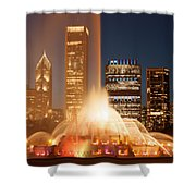 Chicago's Buckingham Fountain Shower Curtain