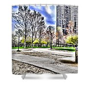 Chicago's Jane Addams Memorial Park From The Series The Imprint Of Man In Nature Shower Curtain