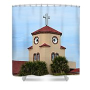 Chicken Church Shower Curtain