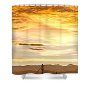 Chicken Farm Sunset 1 Shower Curtain by James BO  Insogna