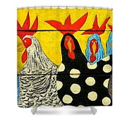 Chicken Posse Shower Curtain