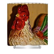 Chicken Shadow Shower Curtain