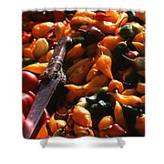 Chiclayo Peppers #2 Shower Curtain