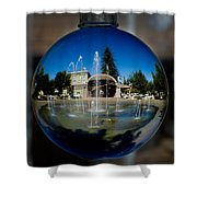 Chico City Plaza Shower Curtain