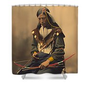 Chief Bone Necklace Of The Lakota 1899 Shower Curtain