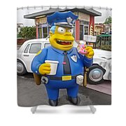 Chief Clancy Wiggum From The Simpsons Shower Curtain