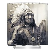Chief He Dog Of The Sioux Nation  C. 1900 Shower Curtain