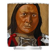 Chief Hollow Horn Bear Shower Curtain