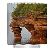 Devil's Island  Shower Curtain
