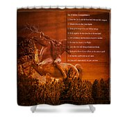 Chief Shabbona And The Ten Indian Commandments Shower Curtain