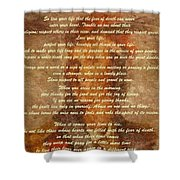 Chief Tecumseh Poem Shower Curtain