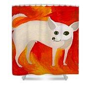 Chihuahua En Fuego Shower Curtain