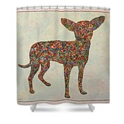 Chihuahua-shape Shower Curtain by James W Johnson