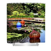 Chihuly Ball Lily Pond Shower Curtain