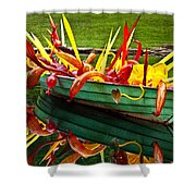 Chihuly Boat Shower Curtain by Diana Powell