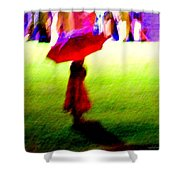 Child In The Rain Shower Curtain