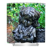 Child And Dove Shower Curtain