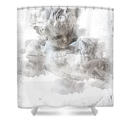 Child Cherub Shower Curtain