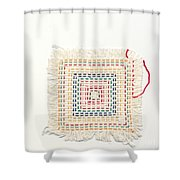 Child Embroidery Shower Curtain by Kerstin Ivarsson