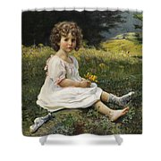 Child In The Meadow Shower Curtain