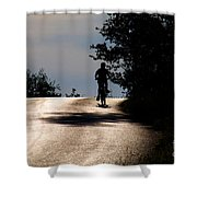 Child On Bicycle, Italy Shower Curtain