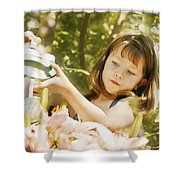 Child Waters Flowers Shower Curtain
