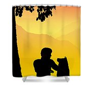 Childhood Dreams 4 Best Friends Shower Curtain by John Edwards