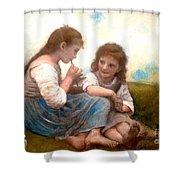 Childhood Idyllic By Bouguereau Shower Curtain